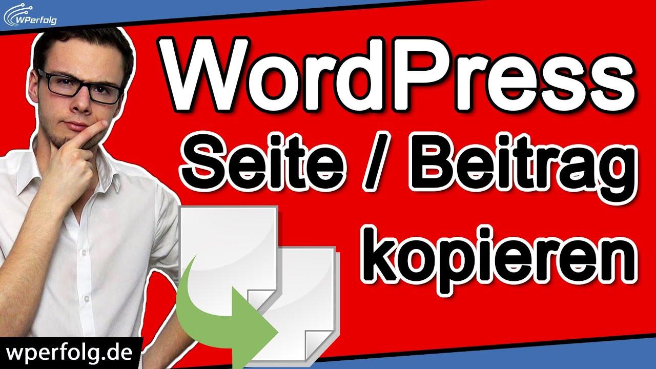 WordPress SEITE KOPIEREN (2021): 3 Sofort-Lösungen (Mit & ohne Plugin) | Yoast Duplicate Post...