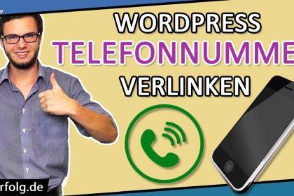WordPress Telefonnummer Verlinken (2021): Simples Tutorial | WordPress Anruf Button + Header Deutsch
