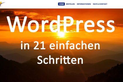 WordPress Webseite erstellen für Anfänger (Schritt für Schritt)