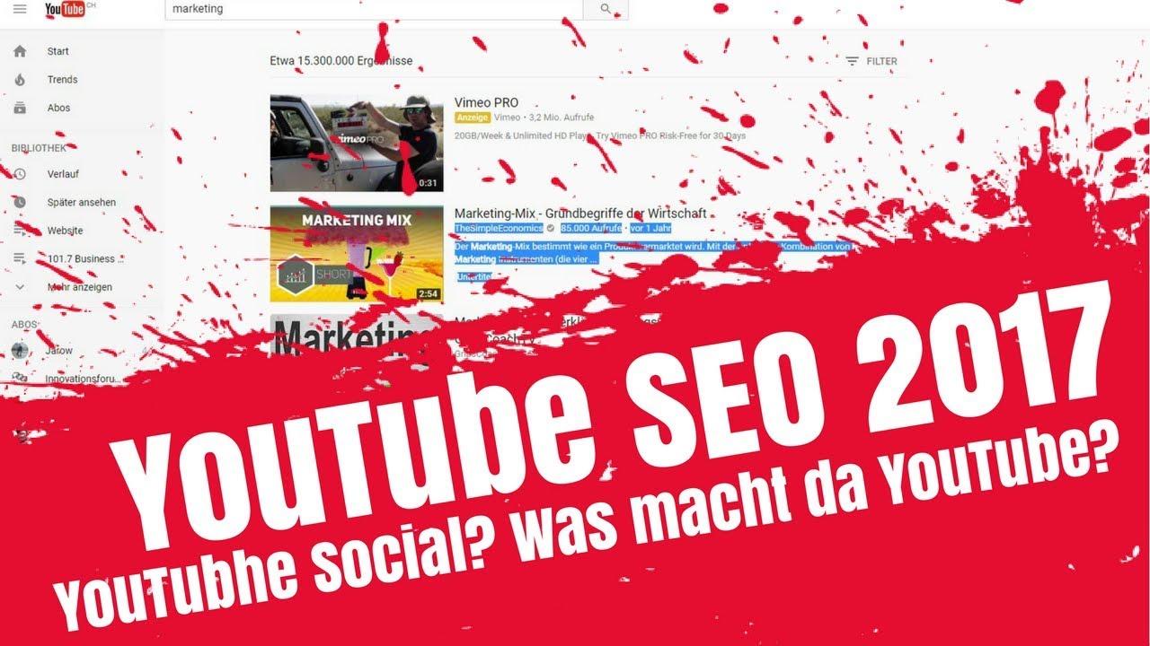 YouTube SEO News 2017 -  YouTube Suche und Platzierung / Ranking