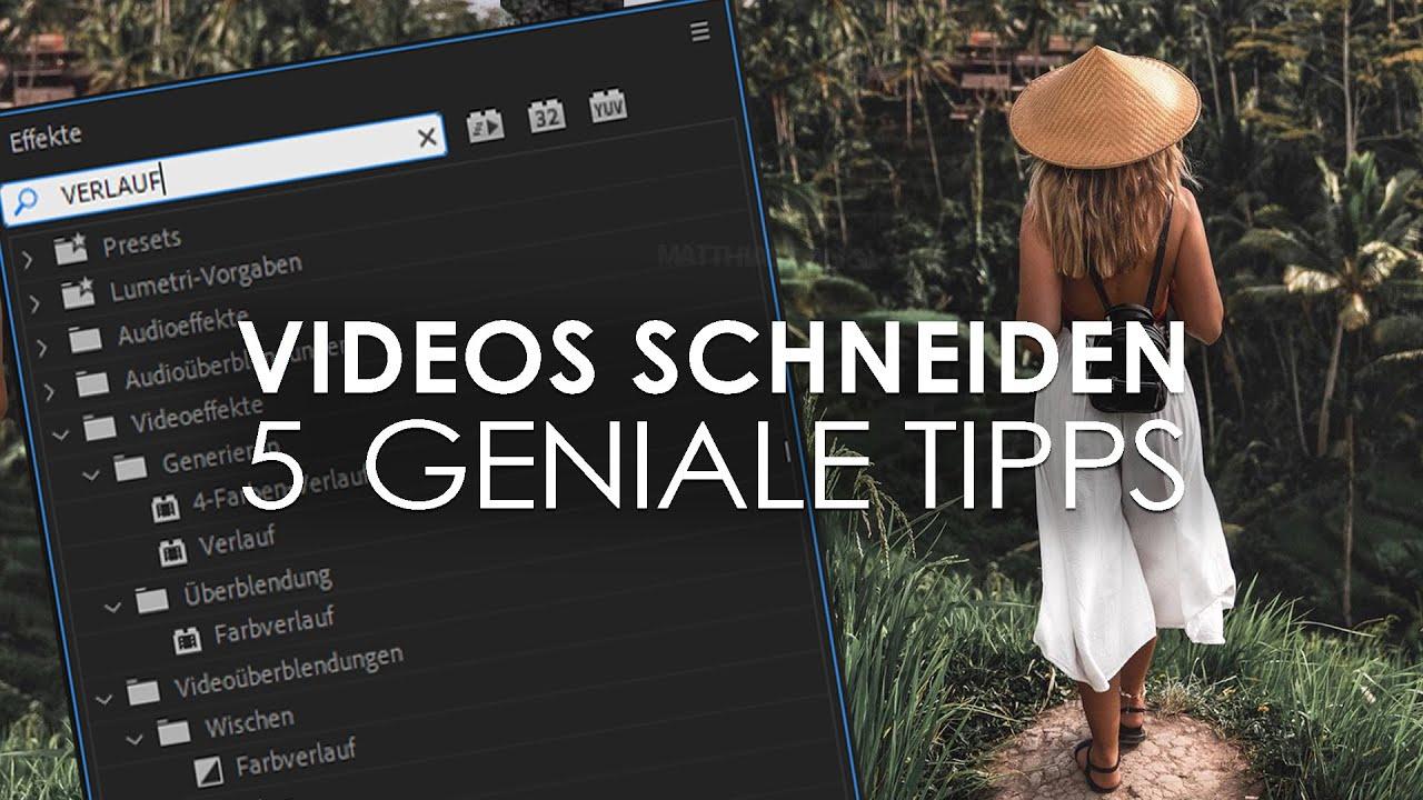 5 WICHTIGE Tipps für BESSERE Videos - Videoschnitt Tutorial Deutsch