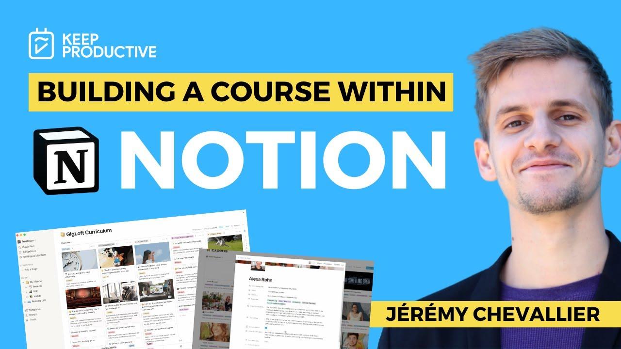 Building a Course inside Notion