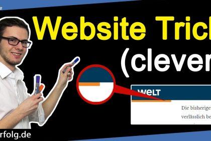 Cleverer Tipp Für Mehr Website-Besucher (auch Welt.de nutzt ihn)| Lese-Fortschrittsbalken WordPress
