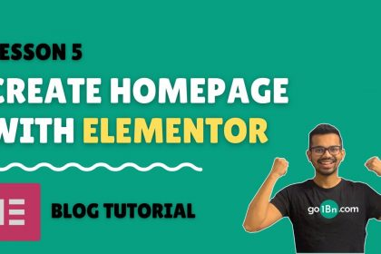 Create homepage with Elementor for free 2021 - Part 1   WordPress Blog Tutorial - Lesson 5