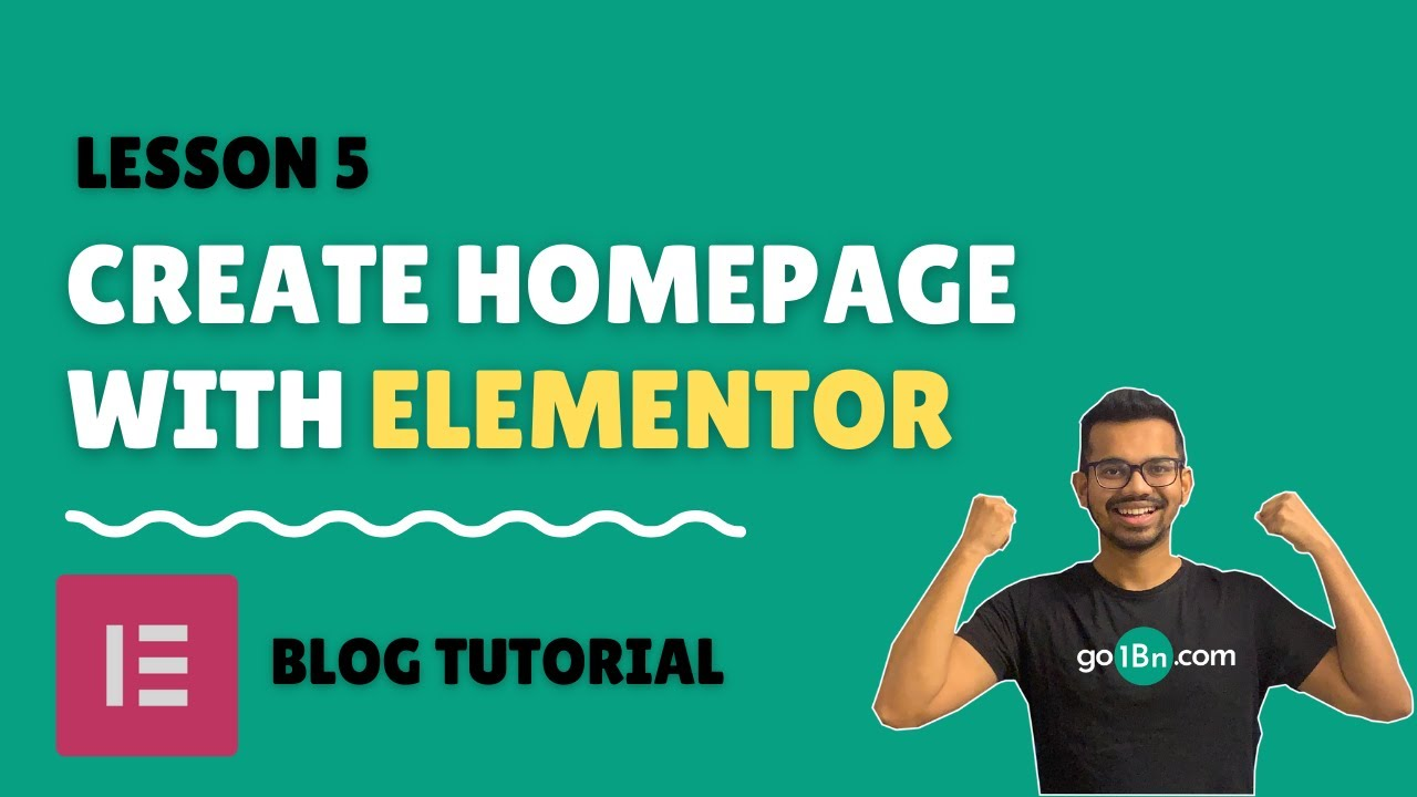 Create homepage with Elementor for free 2021 - Part 1 | WordPress Blog Tutorial - Lesson 5