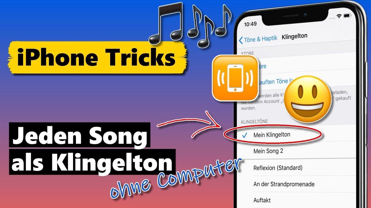 Jeden Song als iPhone Klingelton (ohne Computer & kostenlos)