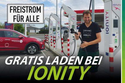 Krasse Aktion: kostenlos Strom bei Ionity! (Plus 8 günstige Anbieter)
