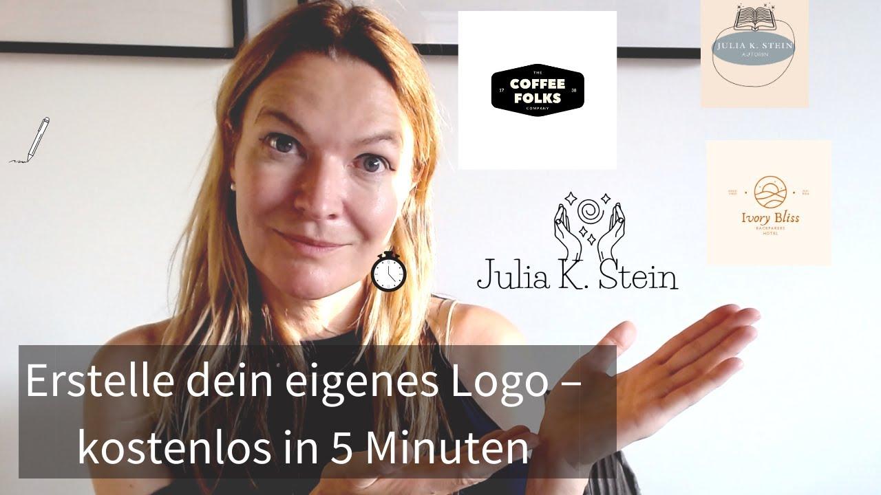 Logo selber erstellen kostenlos in 5 Minuten (online, auch ohne Talent & Programm) Tutorial