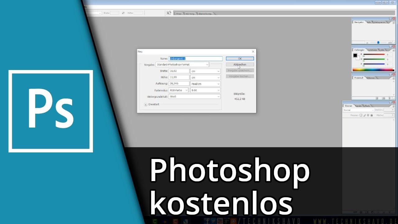 Photoshop kostenlos nutzen (Photoshop CS2) | Tutorial [Deutsch/HD]