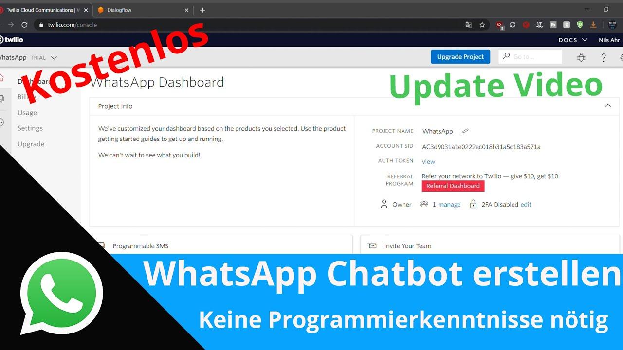 Update: WhatsApp Chatbot erstellen | Keine Programmierkenntnisse nötig | Kostenlos