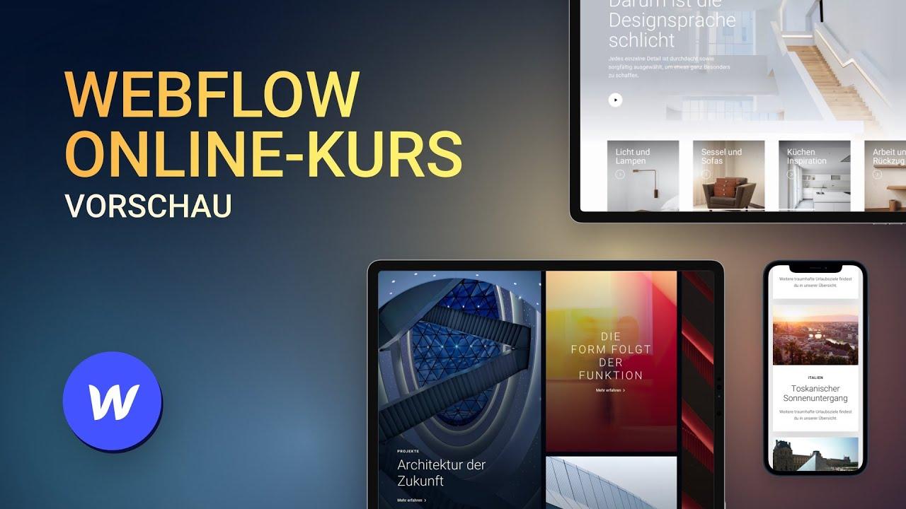 Webflow Online-Kurs – Vorschau