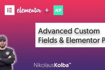 WordPress Advanced custom fields (ACF) & Elementor Pro - Anfänger Tutorial