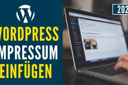WordPress Impressum erstellen & Datenschutzerklärung einfügen ✅