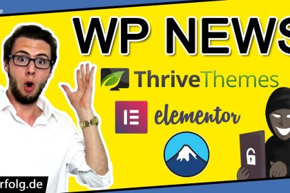 WordPress NEWS: Neues Elementor Plugin, CF7 Sicherheitslücke, Thrive Themes Preisänderung, Rank Math