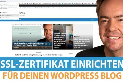Wordpress Blog SSL-Zertifikat installieren bei Webgo (Teil 4)
