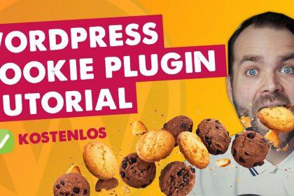 Wordpress Cookie Plugin kostenlos  ✅ kostenlos ✅ mit Opt-in  ✅ Cookie Hinweis Tutorial