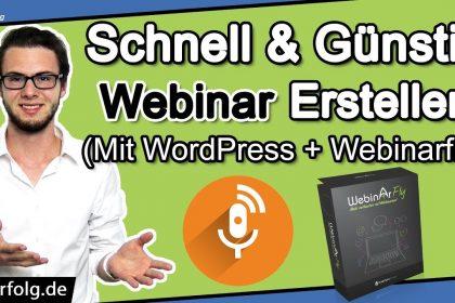 Wordpress Webinar (Deutsch): Simples Webinarfly Plugin / Software Tutorial | Schnell & Günstig 2021