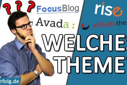 ᐅ Welches WORDPRESS THEME brauche ICH? Meine TOP EMPFEHLUNGEN für Blogs, Homepages & mehr | Deutsch