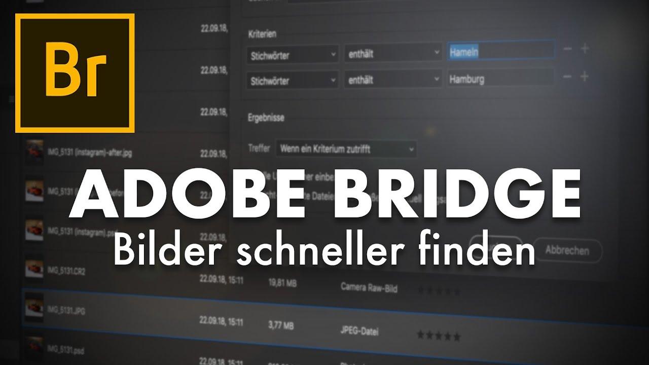 Adobe Bridge - Bilder/Videos mit Stichwörtern schnell wiederfinden