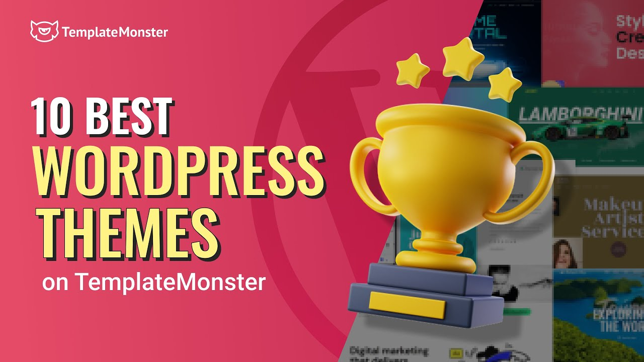 BEST 10 WordPress themes to download on TemplateMonster