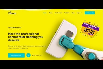 Cleanco - Cleaning Service Company WordPress Theme | Cleaning Services Website Template