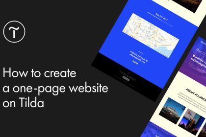 How to Create a One-Page Website on Tilda