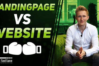 Landingpage vs Website - wo ist der Unterschied?   Fastlane Marketing