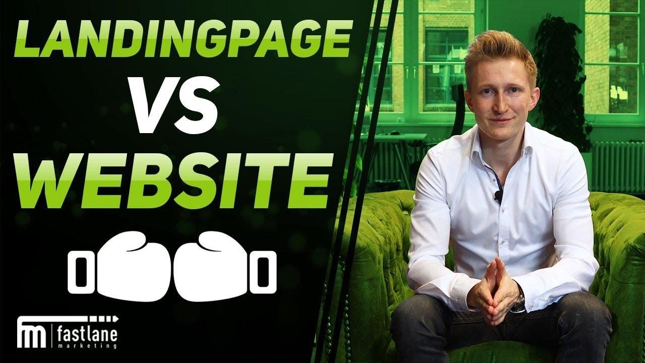 Landingpage vs Website - wo ist der Unterschied? | Fastlane Marketing