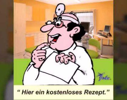 Rezept kostenlos , Dr. Gallemstein, Starke Witze Joke