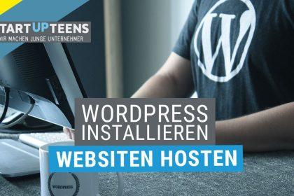 Wordpress installieren und Websiten hosten - (Website Tutorial #1)