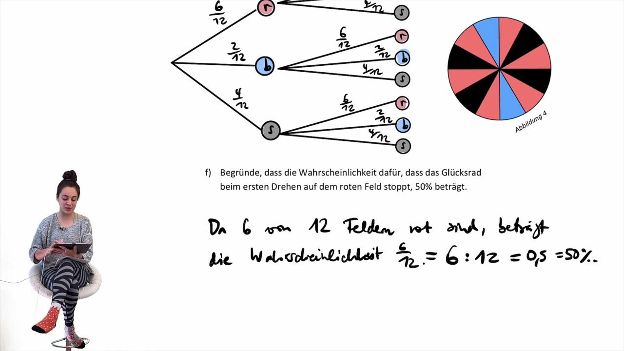 ZP 10 NRW 2021 | Zentrale Prüfung MSA | Wahrscheinlichkeitsrechnung Glücksrad | Übungsaufgabe